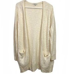 Madewell cotton Open Front Oversized Cardigan